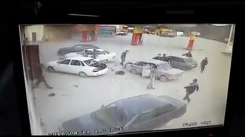Авария на ровном месте