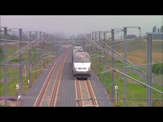 High Speed TGV running 320 km/h on LGV Est