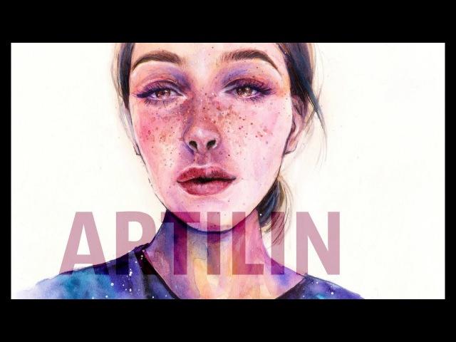 Artilin - speedpaint |watercolor portrait| акварельный портрет | Настя Ивлеева | _@agentgirl_