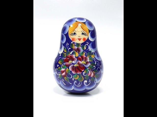 Деревянная неваляшка-матрешка / Roly-poly Wooden toy or Tilting doll