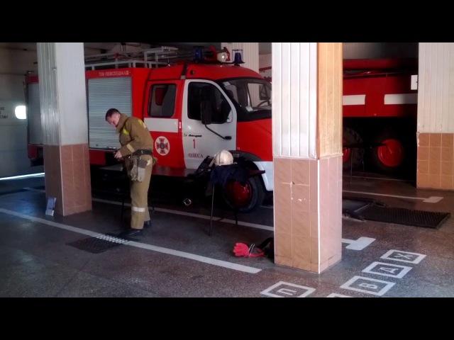 м. Одеса: рятувальники змагаються за звання «Кращий начальник караулу 6 ДПРЗ»