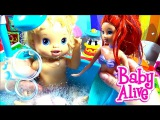 Барби РУСАЛКА МНОГО Мыльные Пузыри Most Barbie MERMAID Soap Bubbles A LOT for kids Curly Lisa