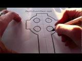 How to Draw a Celtic Cross 1 - Irish 7th century Style
