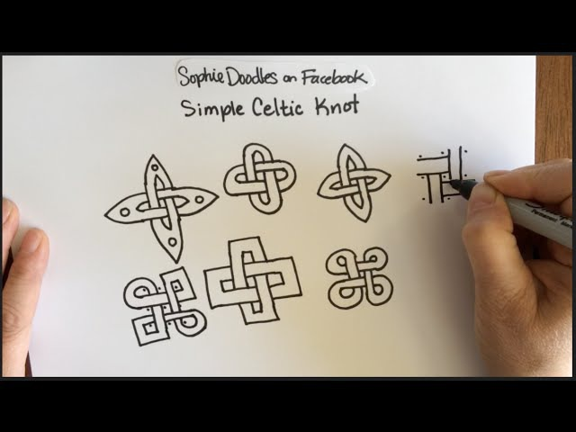 Simple Celtic Knot Work Pattern (Doodle, easy, Knotwork, Zentangle, drawing, ASMR, YouTube)