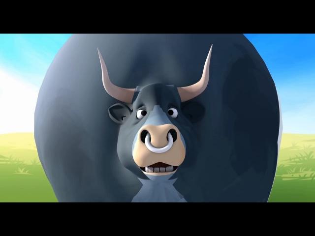 Мультик про ферму в которой живут куры коровы и бык