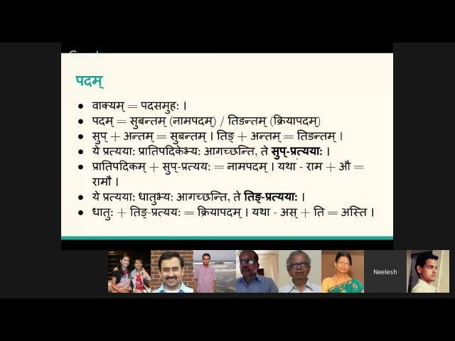Verbs in Sanskrit - Overview of the 10 Dhaatu Ganas by Neelesh Bodas