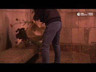 Цветы в память о Виталии Чуркине