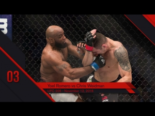 UFC Top 10 KOs of 2016 # 3 Yoel Romero KO Chris Weidman