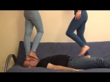 Alice And Casey - Brutal Trampling And Facestanding foot worship smelling fetish feet smother domination trample