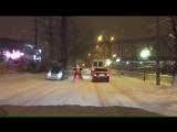 На снегоходе по Сочи. Улица Конституции сегодня ночью