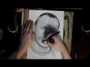 классический черно-белый графический портрет мужчины