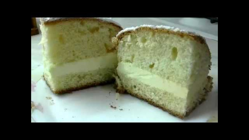 Дрожжевой пирог Лакомка с заварным кремом.