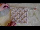 Объемный узор Крупные соты Вязание спицами Видеоурок 103