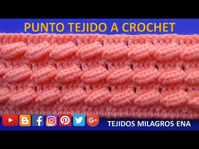 Punto a crochet N°22 para suéter y bufandas paso a paso