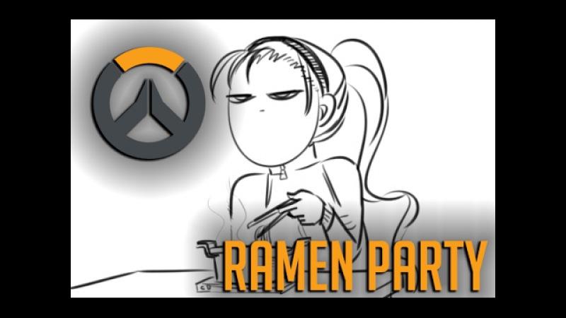 (Comic Dub) Overwatch: Talon Friends: Ramen Party Ft. LatinfireVA and Bread
