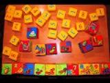 Супер Кубики цифры и буквы Полина качает Каролину