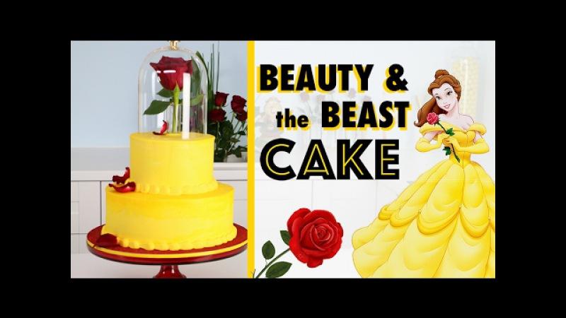 EASIEST Beauty the Beast Cake 🌹How to make a Princess Wedding Cake! ♥️
