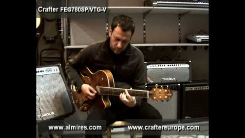 Crafter FEG 780SPVTG-V Full acoustic body guitar, Semi acoustic guitar