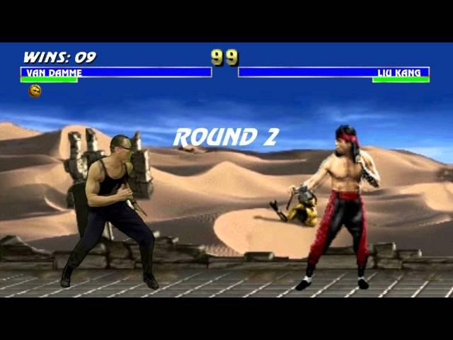 Van Damme vs Liu Kang Mortal Kombat 3 Completo com Fatality Full HD