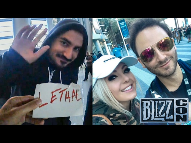 Reckful @ BlizzCon Day 2: Kripparian, Incognito Jessica Nigri, Free Hot Dog from Korean Rapper