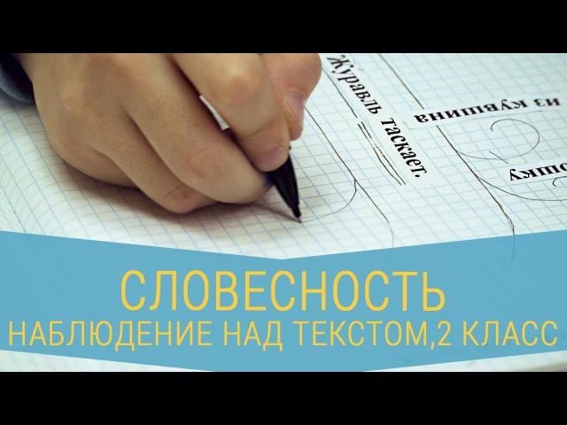 НАБЛЮДЕНИЕ НАД ТЕКСТОМ - 2 КЛАСС