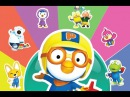 Learn colors and Have Fun With 뽀로로 ( Pororo ) - My Talking Tom Finger Family Color Videos For Kids