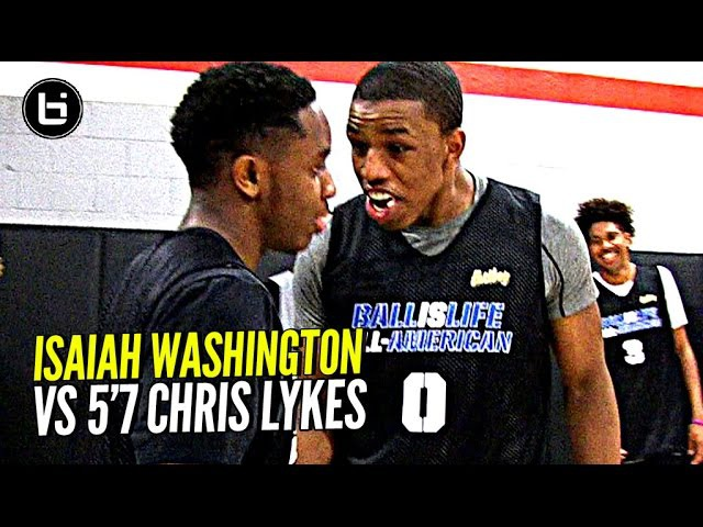 Isaiah Washington 5'7 Chris Lykes Try To OUT JELLY Each Other!! Exciting PG Duel at BILAAG