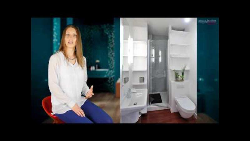 Дизайн интерьера ванной комнаты. Как расставить мебель и выбрать унитаз? Выпуск1.