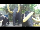 Animatronic Mammoth Group from Ice Age