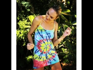 angelcandices: Hope you like jammin too. 💛💚💙💜 Dress by my lover and tie dye master @behatiprinsloo #tiedyeforever