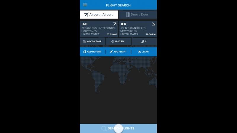 Заказ частного полета за 30 секунд !