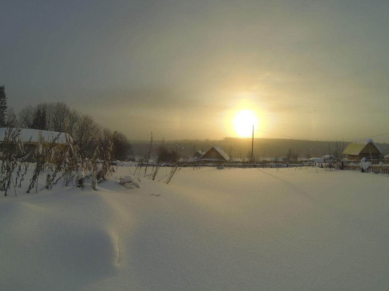Зимний день в деревне