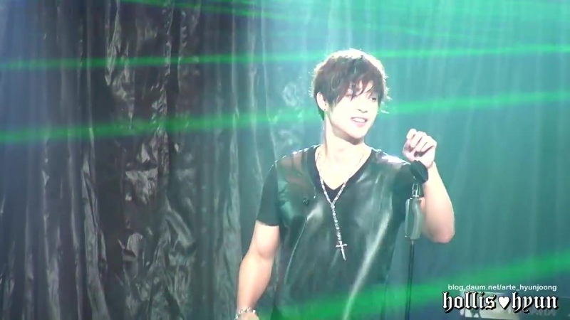 121004 Kim Hyun Joong 김현중 - HEAT (Rock ver.) @ Budokan (1)
