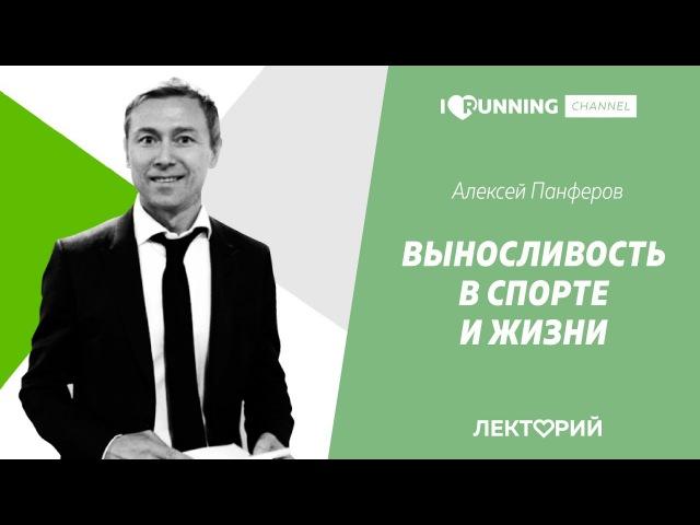 Выносливость в спорте и жизни. Алексей Панферов в Лектории I LOVE RUNNING