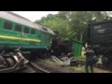 Поезд Киев - Каменец-Подольский - авария под Негином (Хмельницкая обл.)