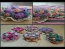 Подарок НА 8 МАРТА Текстильная брошь Букет 💄👢👜 ( textile brooches )