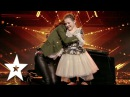 Girl Sings Plays Piano With Her Feet! | GOLDEN BUZZER | Auditions Week 4 | Românii au talent