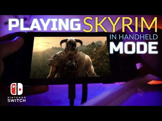 SKYRIM on Nintendo Switch in Handheld Mode - First Impressions New Gameplay