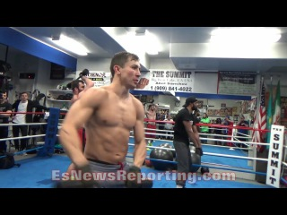 GENNADY GOLOVKIN IS RIPPED!!! SHREDDED!!! LIFTS WEIGHT BAR FOR HEAVYWEIGHTS WITH EASE!!! - EsNews gennady golovkin is ripped!!!