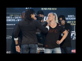 UFC 213 Media Day Staredowns (w/commentary) - MMA Fighting ufc 213 media day staredowns (w/commentary) - mma fighting