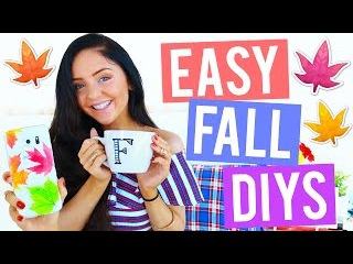 EASY DIY Fall Room Decor 2016! Cheap, Cosy Easy Room Decorations for Autumn! Tumblr Inspired!