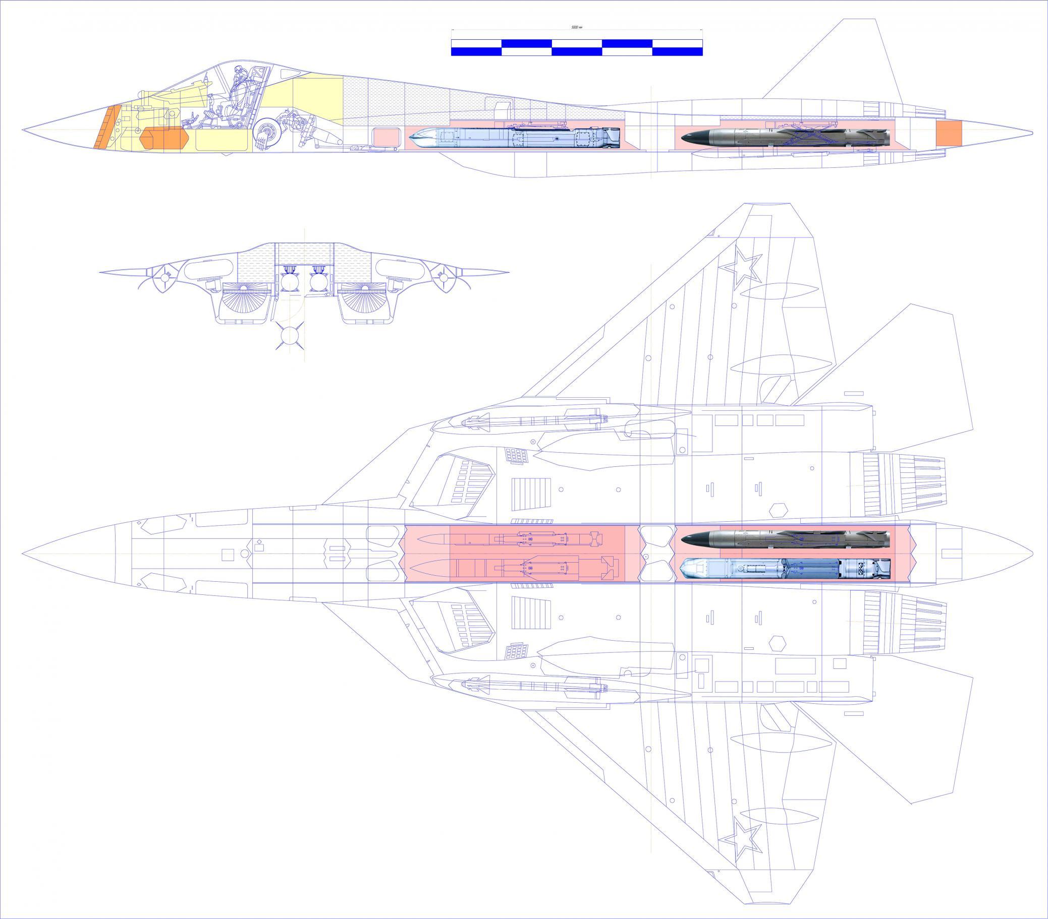 Внутренняя компоновка Т-50