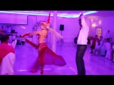 The sparkling dancer seduces the guests. Wedding in Moldova. Russian wedding
