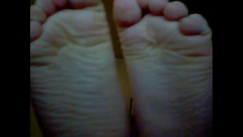 Long Hair Boy shows bare feet to camera - pt 2