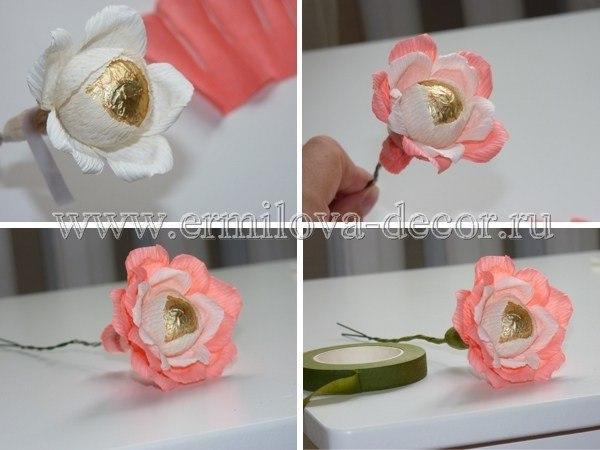 Как сделать цветы с конфетами своими руками