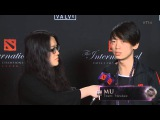 The Internationals 4 Main Event Broadcast - Newbee.MU post Grand Finals Game 3 interview with Kaci