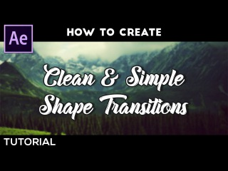 After Effects - Clean & Simple 2D Transition | Tutorial by Dope Motions™