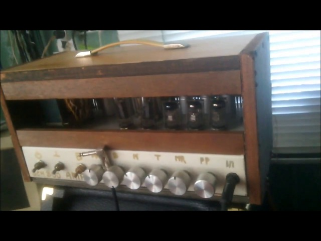 Самодельная Ламповая Гитарная Голова Из Мусора (по мотивам Marshall JCM800)