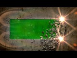wall collapse E - green screen intro effect with sound