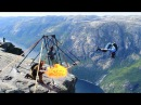 Amazing basejumpers at Kjerag Spectacular Norway 100 million views on Facebook
